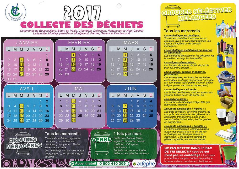 calendrier déchets 2017 A
