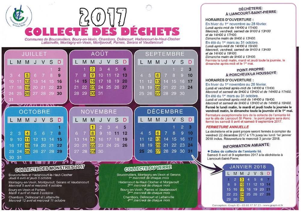 calendrier déchets 2017 B