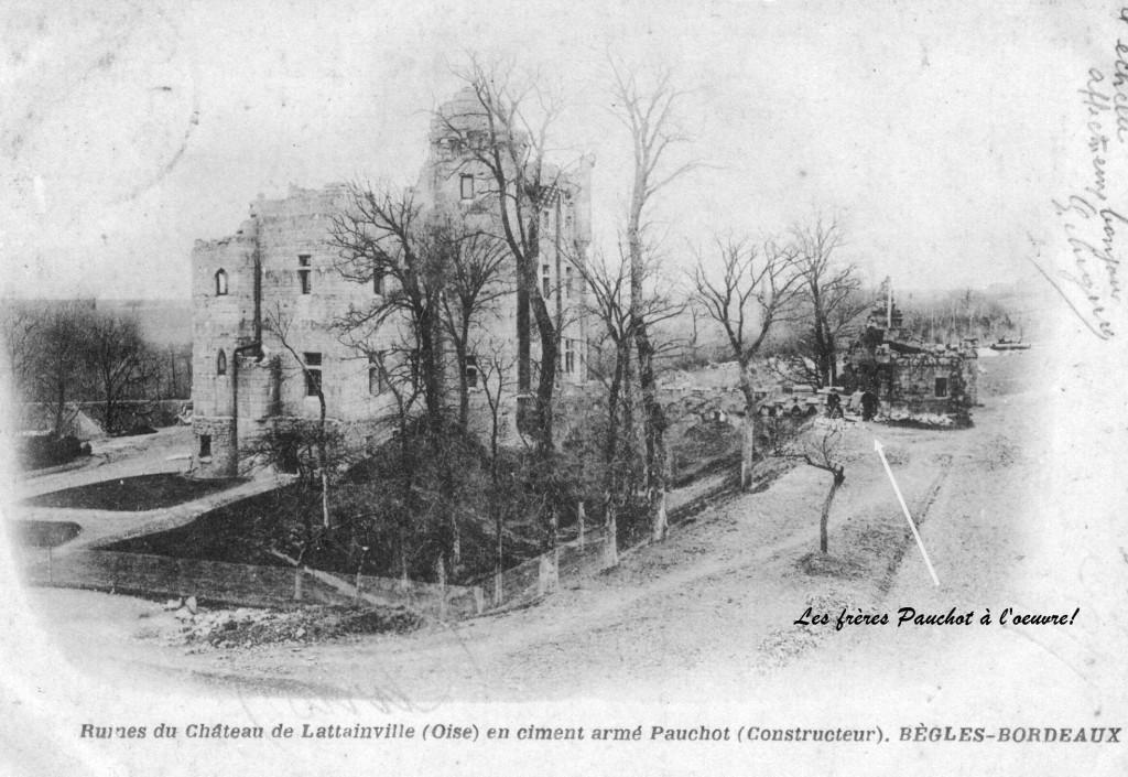 Château  en construction avec les frères Pauchot