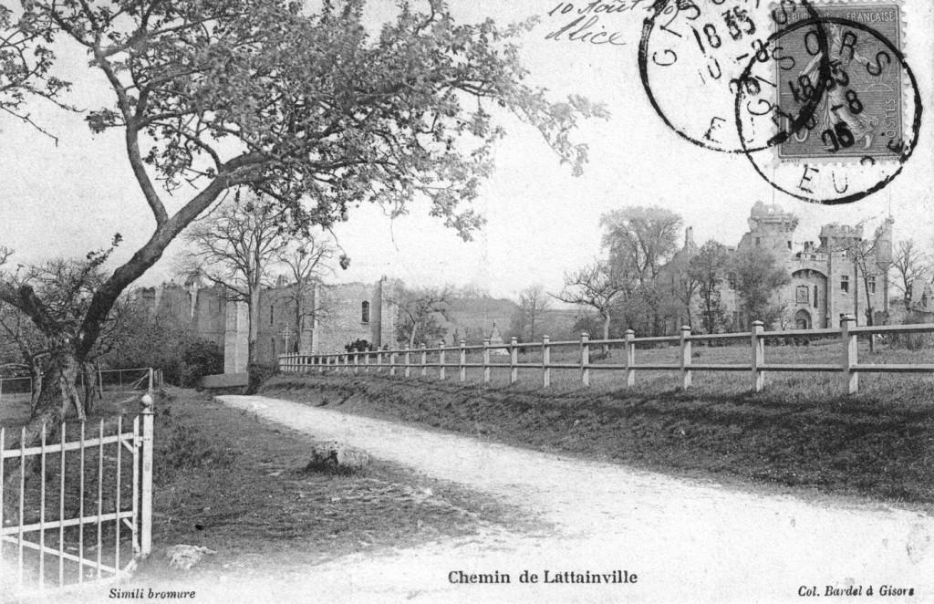 chemin du château, vers 1900