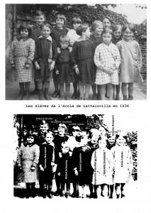 les élèves , école 1936, avec légende