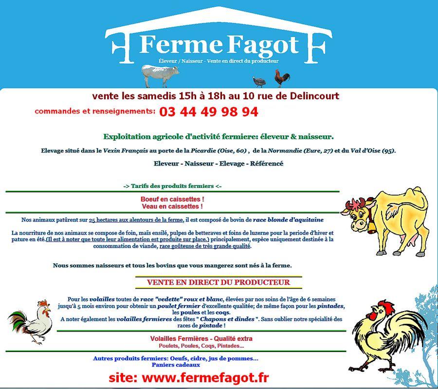 ferme Fagot, viandes & volailles 03 44 49 98 94
